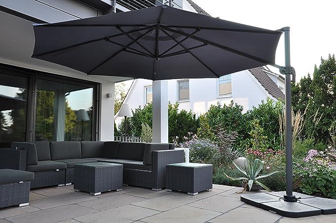 Zangenberg – Toldo sombrilla Monaco 350 cm, gris: Amazon.es: Jardín