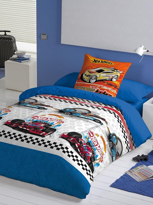 Licenses Euromoda Duvet Cover Set Hot Wheels Action Cars Bed 105 Blue /  White: Amazon.co.uk: Kitchen U0026 Home