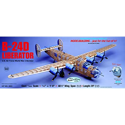 Guillow's Consolidated B-24D Liberator Model Kit: Toys & Games