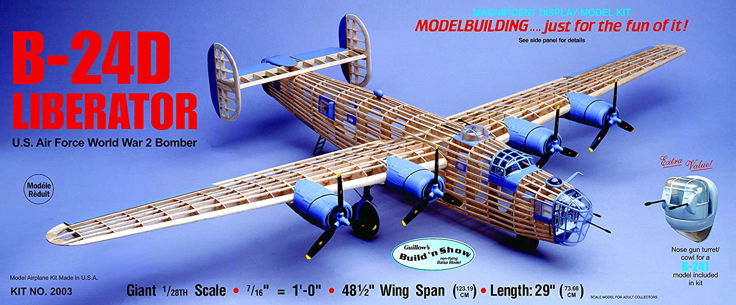 Guillow's Consolidated B-24D Liberator Model Kit