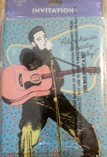Amazoncom Elvis Presley Party Invitations Invites Music Decoration