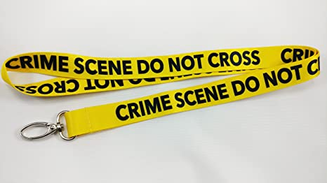 amazon com crime scene do not cross lanyard with clip for keys or