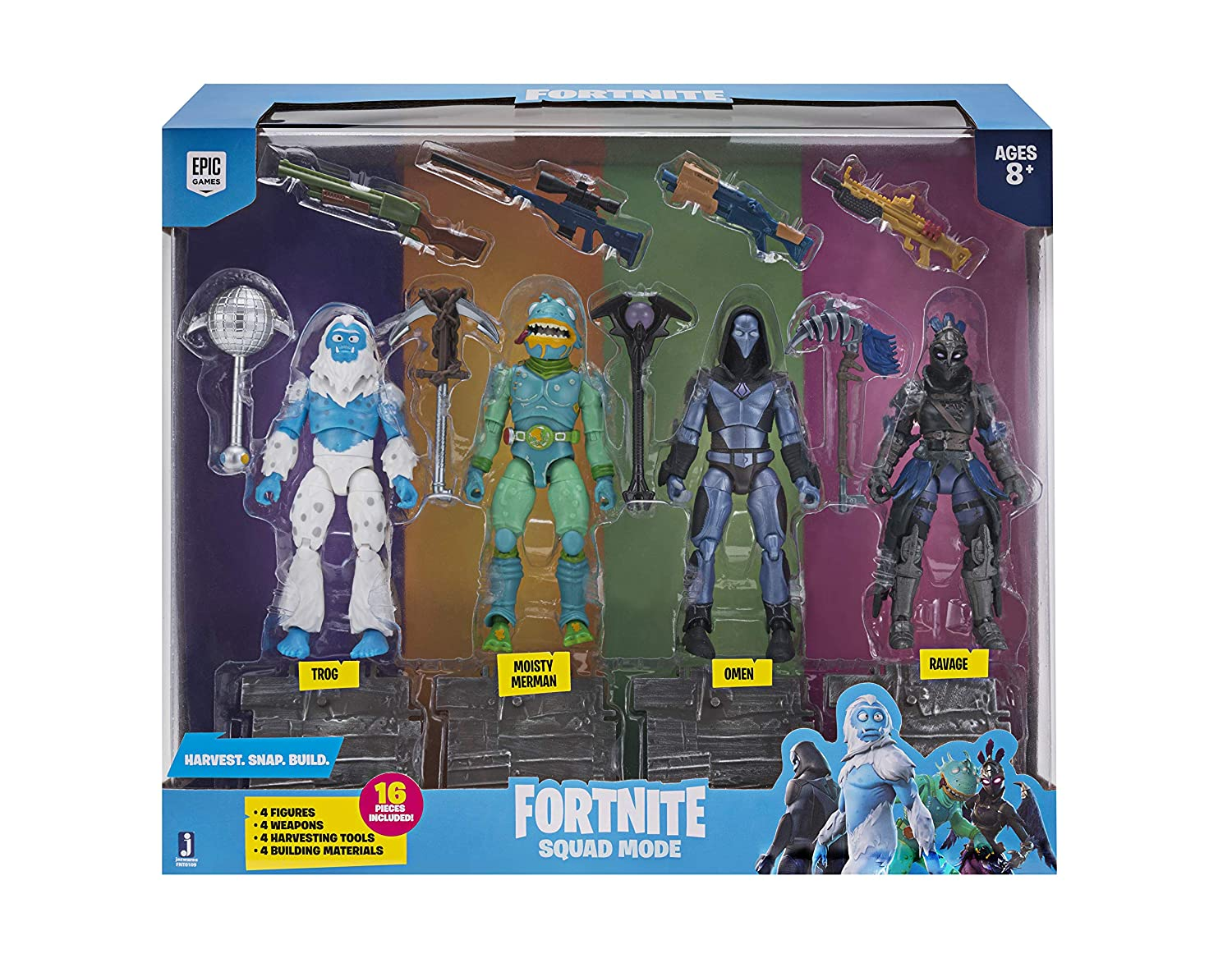 Toy Partner- Pack 4 FIGUAS FORTNITE Squad Mode Core, Serie 2 ...