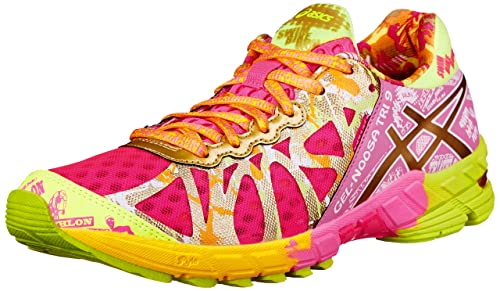 huge selection of e29d1 c95fe ASICS Women s Gel-Noosa Tri 9 GR Running Shoe,Hot Pink Gold