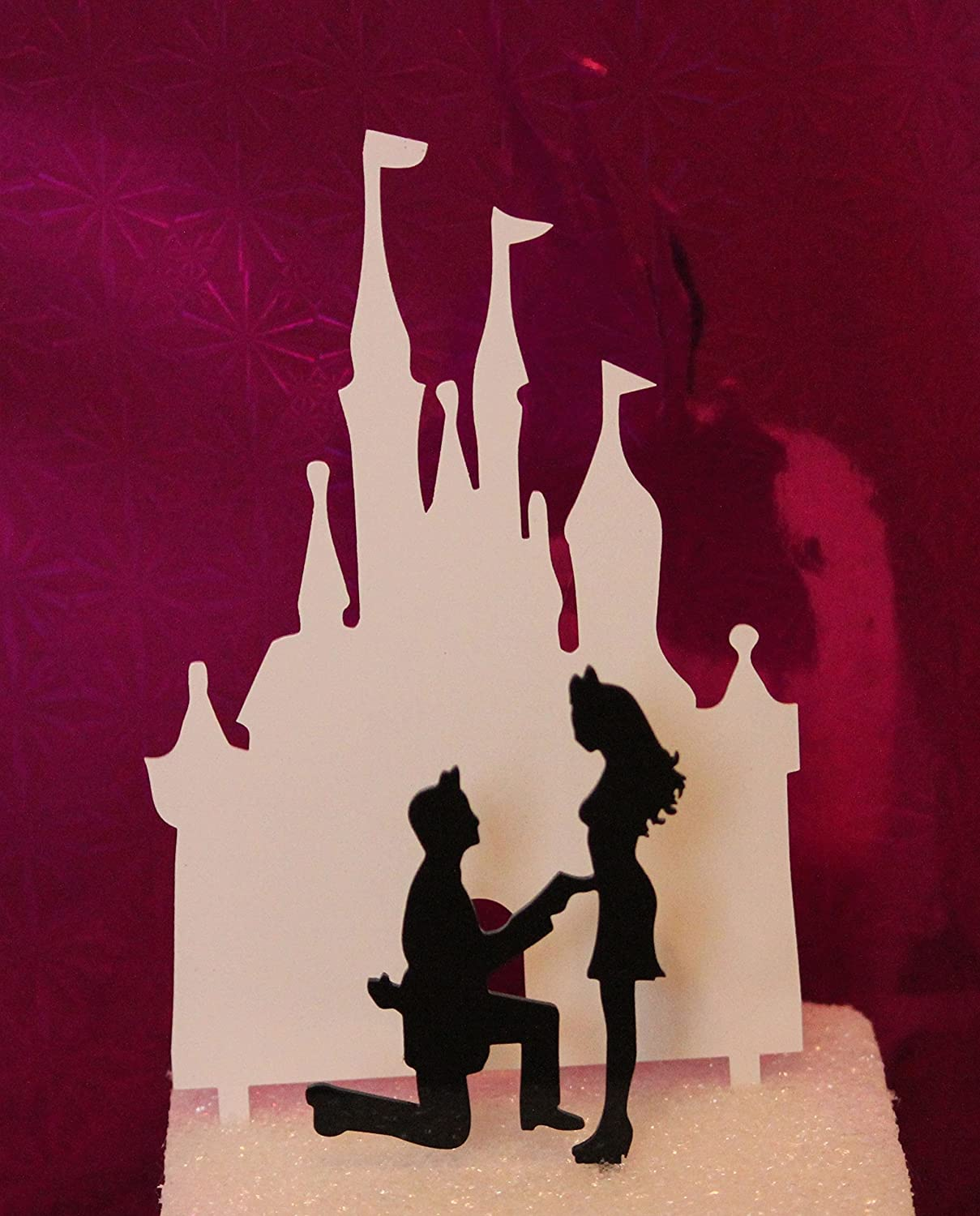 Magical Castle Proposal Wedding Cake Topper