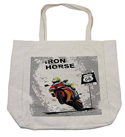 Amazon.com - Lunarable Vintage Shopping Bag, Vector ...