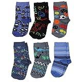 Baby Socken Jungen Baumwolle Mädchen Söckchen mit Muster Kindersocken im 6er Pack Bunt Sortiert