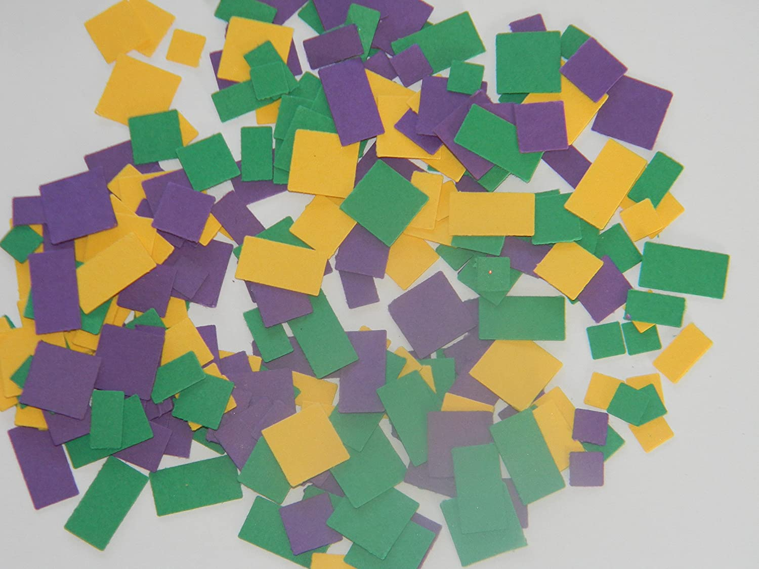 600 Pieces Mardi Gras Classic confetti hand punched die cuts birthday scrapbooking party supplies