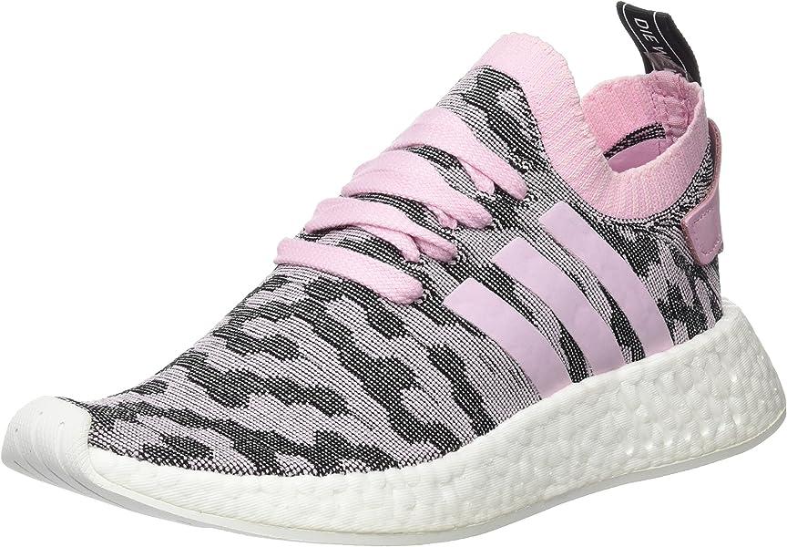 low cost b8718 eac38 adidas Damen NMD r2 Primeknit Sneaker Schwarz