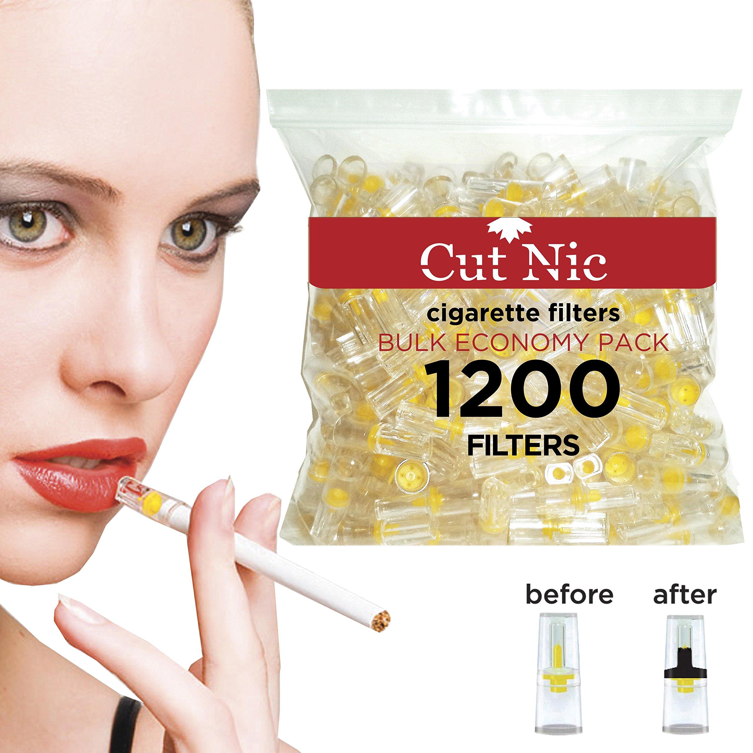 Cut-Nic 4 HOLE Disposable Cigarette Filters - Bulk Economy Pack (1200 Per Pack)