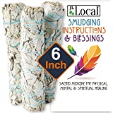 """JL Local 6"""" 3 Pack White Sage Smudge Sticks 