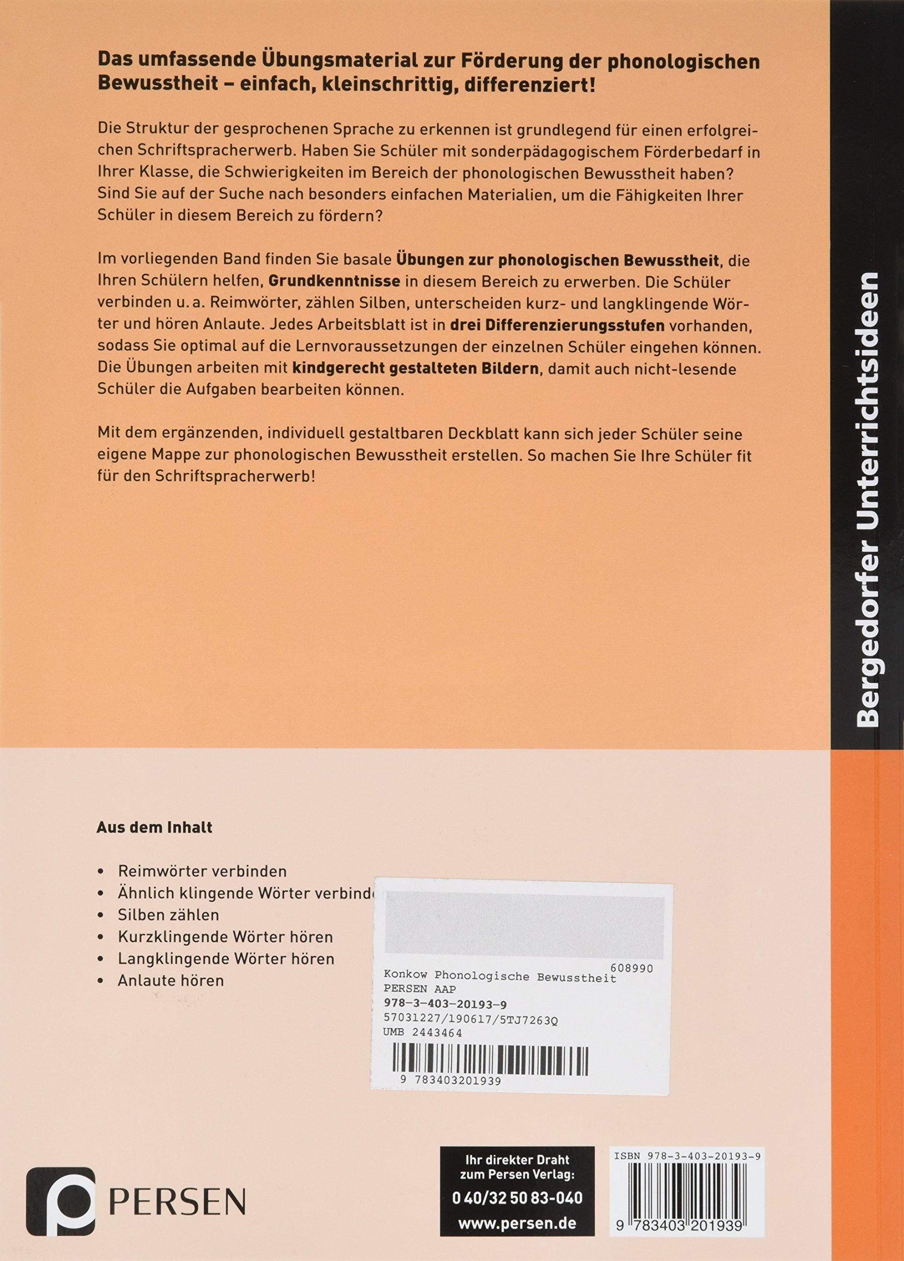 Phonologische Bewusstheit: Lernvoraussetzungen im Anfangsunterricht ...