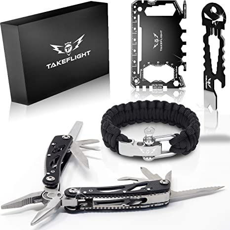 Multi Tool Survival Gear Kit Birthday Gifts Cool Gadgets For Men
