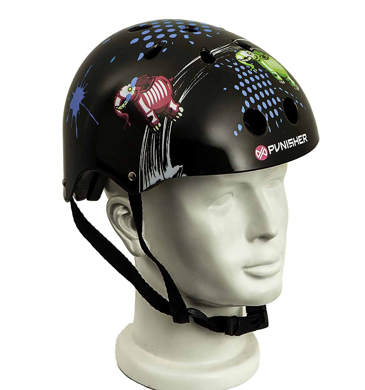 Punisher Skateboards Elephantasm 11-vent Skateboard Helmet, Youth Size Medium, Black Bike USA 9212