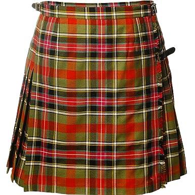 Seã±Oras de Lujo Mini Falda Falda Escocesa Bruce de Kinnaird tartà ...