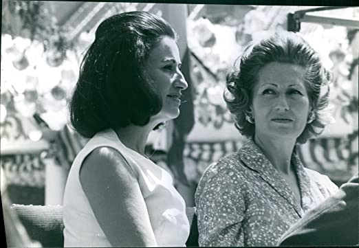 Vintage photo de MarÃa del Carmen Franco con su madre MarÃa del ...