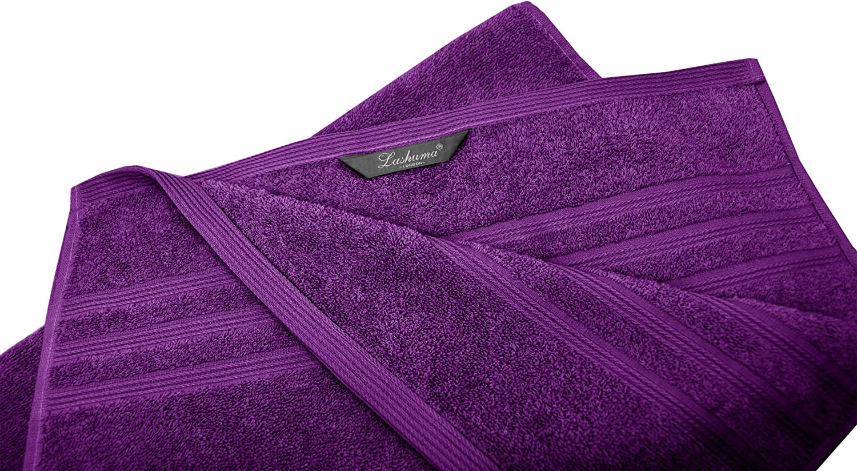 Lashuma Besticktes Handtuch London mit Name Anthrazit Graues Baumwollhandtuch 50 x 100 cm