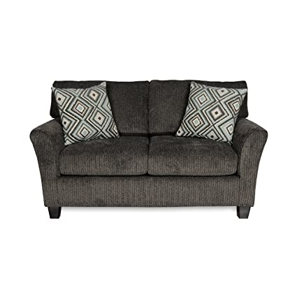 ExceptionalSheets Fifth Avenue Pebble Living Room Love Seat Sofa With Throw  Pillows | Contemporary Casual Design