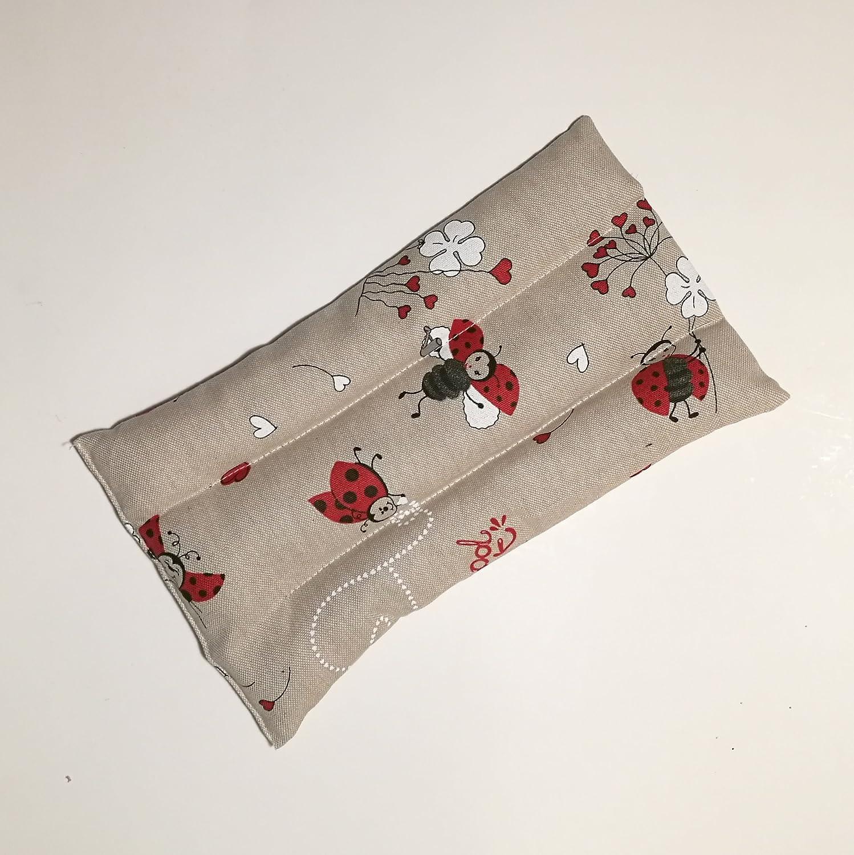 Cojín térmico con semillas de lino y flores de lavanda para dolor ...