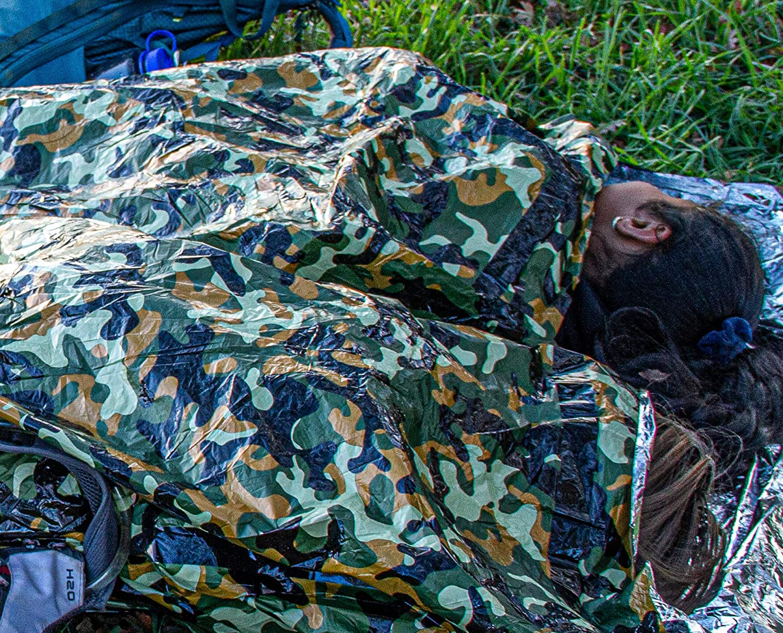 SE Survivor Series Camouflage Reusable Bivy Sleeping Bag - EB122CF: Home Improvement