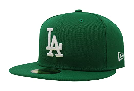sports shoes c43dc 696db New Era 59Fifty MLB Basic Los Angeles Dodgers Green Fitted Headwear Cap (6 7