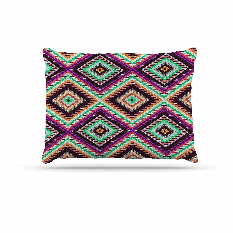 KESS InHouse Vasare NAR Boho Gipsy Purple Green Dog Bed, 50  x 40