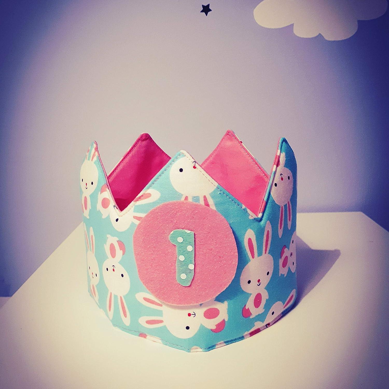 Corona cumpleaños - aniversario tela bebe rabbit conejitoi ...