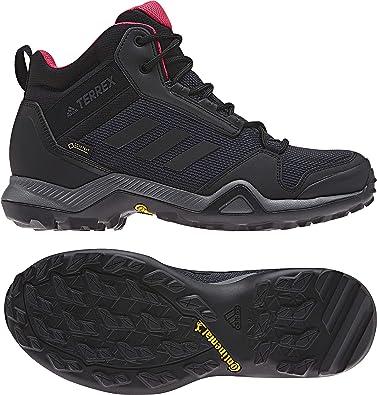 a52a502967cbd adidas outdoor Women s Terrex AX3 Mid GTX¿ Carbon Black Active Pink 6 B