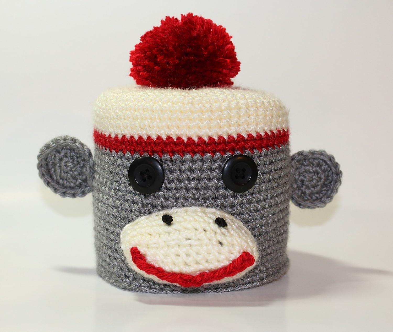 Amazoncom Crochet Sock Monkey Toilet Paper Cover Handmade Handmade