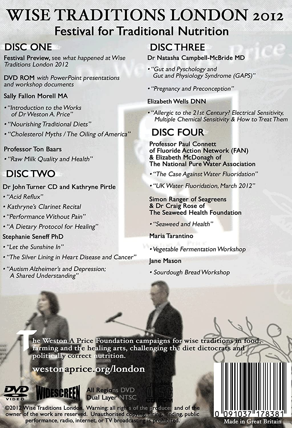 Wise Traditions London 2012 - 20 Hour Conference DVD
