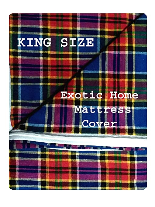 Buy Exotic Home Double King Size Bed Mattress Cover With Zip