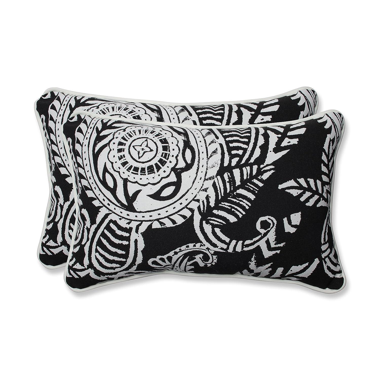 Pillow Perfect Outdoor Indoor Addie Night Rectangular Throw Pillow Set of 2 , 2 Piece