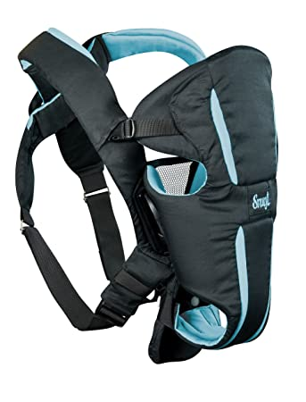 Evenflo Snugli Hug Baby Carrier Black Aqua