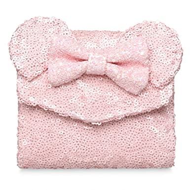 5a5cda8c01f Image Unavailable. Image not available for. Color  Disney Loungefly Minnie  Mouse Sequined Wallet Millennial Pink
