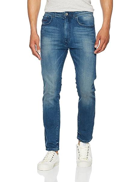 Hilfiger Denim Slim Straight Slater Ldbco, Pantalones Vaqueros Delgados para Hombre, Azul (Lenox Dark Blue Comfort 911), W30/L34 Tommy Jeans