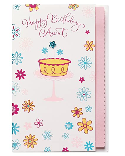 Amazon American Greetings Cake Birthday Card For Aunt With
