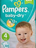 Pampers Baby Dry Nappies Size 4 Giga Pack - 120 Nappies