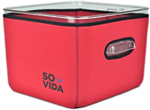 SO-VIDA Sous Vide Container Sleeve Compatible For The Rubbermaid 12 Quart Container (Red Version)