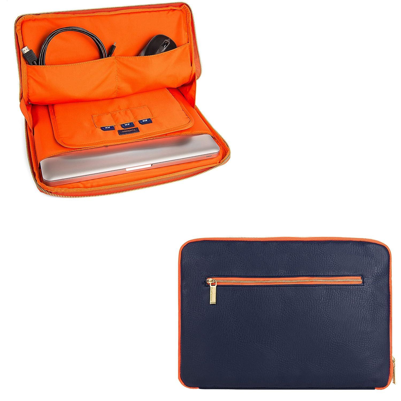 ユニバーサルラップトップスリーブポーチタブレット携帯ケースノートブックバッグ15.6インチfor MSI gs63vrステルスPro/Samsungノートブック3 /ノートブック5 /Fujitsu Lifebook RDYLEA77X  ブルー/オレンジ B077RX9G9C
