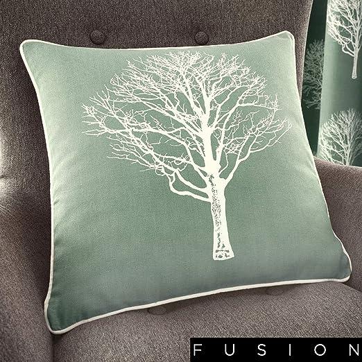 Un par de Bosque de árboles de Cortinas con Ojales, algodón ...