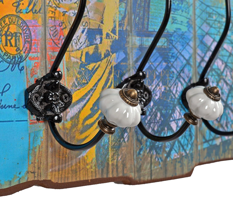 """Appendiabiti da parete """"paris"""" in stile epoca effetto shabby. 60 x ..."""