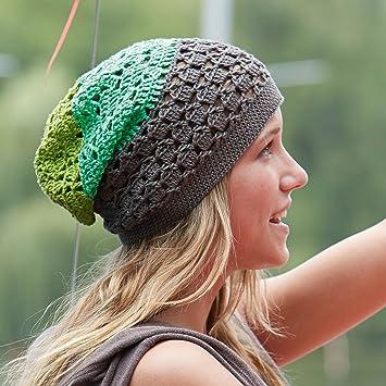 Tolle Beanie für den Sommer in Grüntönen zum selber häkeln! DIY ...