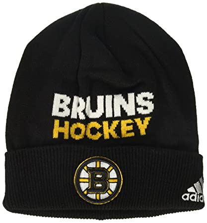84fdd47c2 adidas NHL Boston Bruins Adult Men Pro Authentic NHL Locker Room Beanie