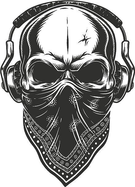Amazon Com Cool Vintage Retro Thug Gangster Skull Cartoon Vinyl