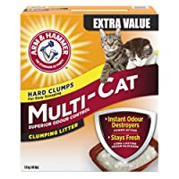 ARM & HAMMER Multi-Cat Litter, Superior Odour Control, 18-kg