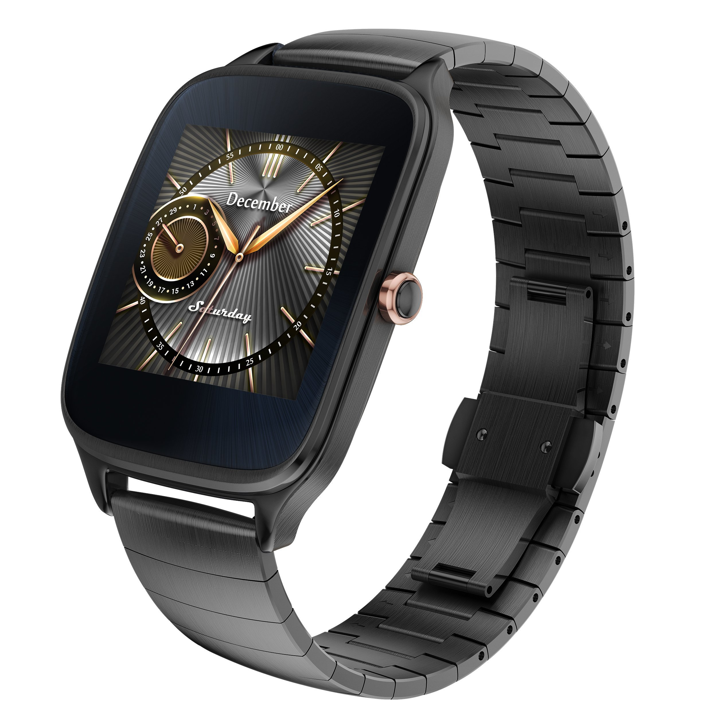 ASUS ZenWatch 2 Gunmetal Gray 41mm Smart Watch with HyperCharge Battery, 1.63-inch AMOLED Gorilla Glass 3 TouchScreen, 4GB Storage, IP67 Water Resistant by Asus (Image #2)