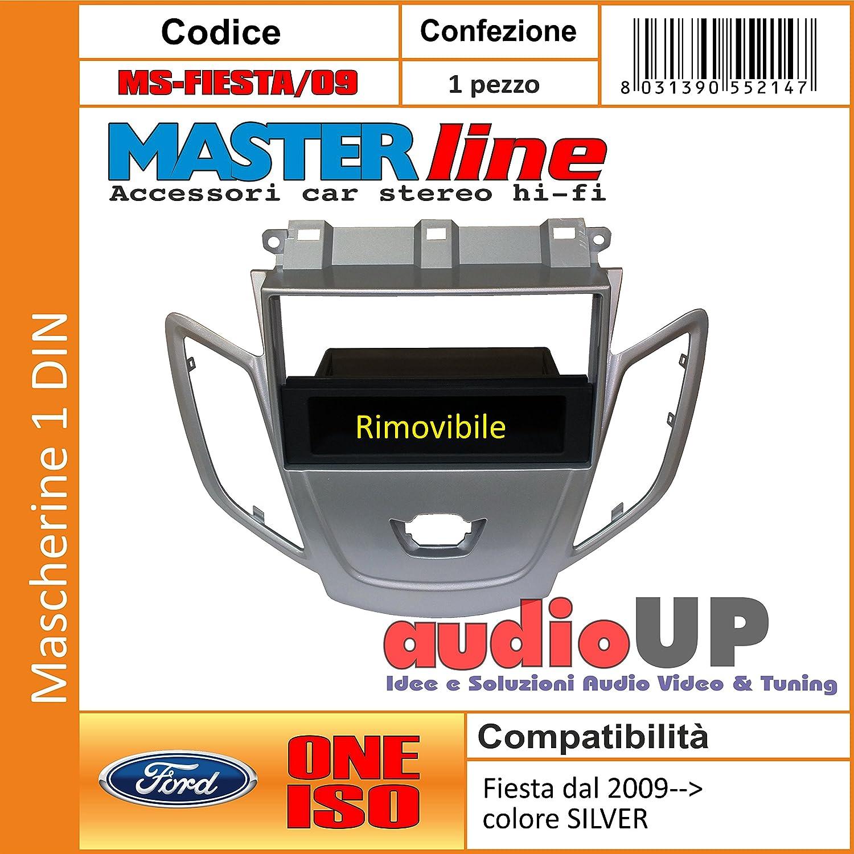 Mascherina autoradio 1 din Cassetto portaoggetti rimovibile Colore SILVER