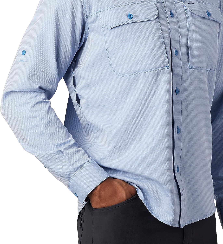 c/ómoda para Viajar y Caminar Mountain Warehouse Agra Camiseta m/élange para Hombre de Secado r/ápido y protecci/ón UV Ligera con Cuello Redondo