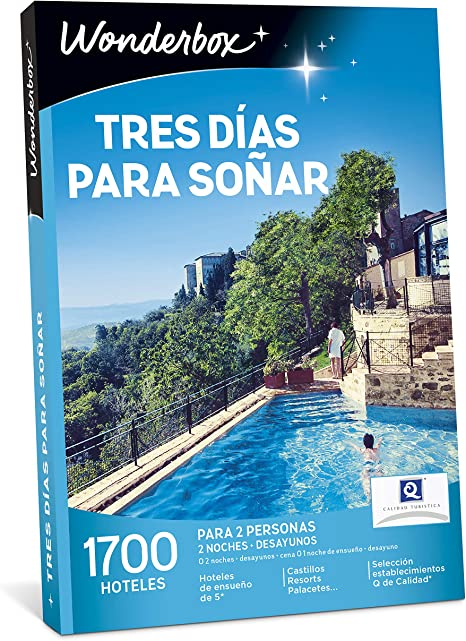 WONDERBOX Caja Regalo para papá - Tres DÍAS para SOÑAR - 1.700 ...