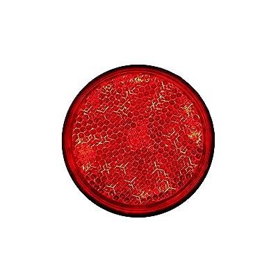 BAR Autotech Universal Motorcycle Round Warning LED Reflector for Suzuki GSX-R1000 / GSX-R750 / GSX-R600 / GSX650F (Red): Automotive